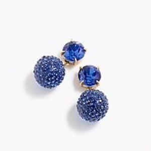 J. CREW Blue Crystal Earrings